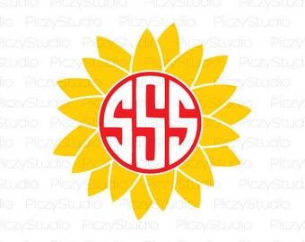 80% OFF Sale Svg files, sunflower svg, Flower Monogram Svg, Sunflower Monogram SVG, Flower Monogram, Svg Design File, instant download