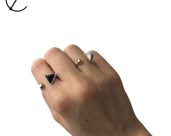 Triangle Rings | Geo Rings | Stacking Rings