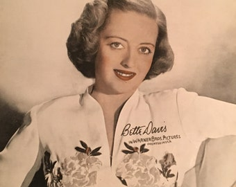 BETTE DAVIS Hand-Signed Autograph Promo with COA