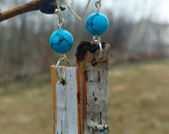 White Birch Drop Earrings