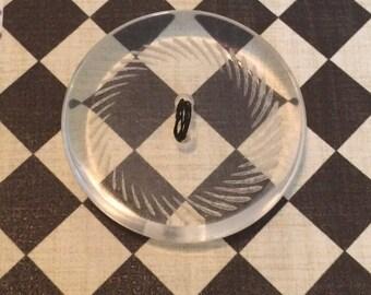Mid Century Lucite Button