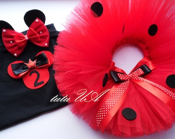 Birthday Girl Minnie Mouse Outfit , Minnie Inspired Tutu Dress , minnie mouse 1st birthday outfit, minnie mouse outfit toddler, minnie shirt