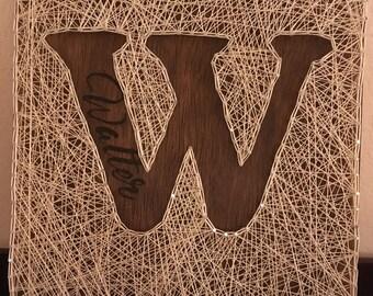 Last Name Sign, Initial,  Wedding Gift, Anniversary Gift, Custom & Personalized, String Art, Inital Decor, Wall Decor, Home Decor