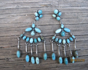 Navajo Earrings-Carico Lake Turquoise-JUST REDUCED!