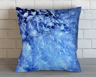 Ice Crystals 3 Pillow