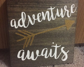 "Adventure Awaits 7"" x 7"""