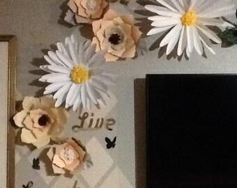 Wall flower back drop