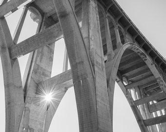 Photograph - Black & White - Black and White - Colorado Street Bridge - Pasadena - California