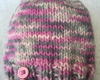Wool 2 button hat - toddler