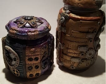 Small steam punk stash jar