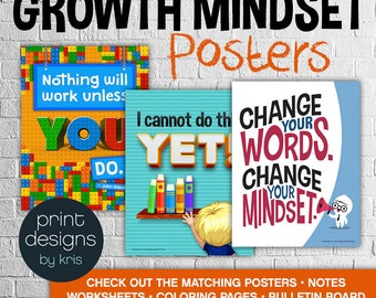 Growth Mindset Posters • Growth Mindset • Teacher Notes • Growth Mindset Materials • Teaching Materials • Classroom Posters