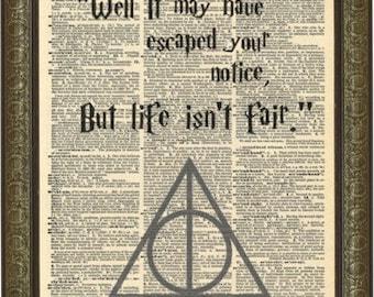 Professor Severus Snape quote art print. Famous Snape quote. J K Rowling quotes. Vintage print.