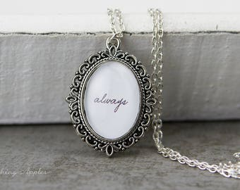 """Necklace """"Always"""" / quote, love message, quote, love, minimalist,"""