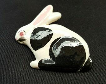 Ruby Z Ceramic Bunny Pin