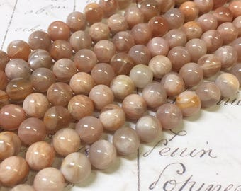 AA quality, Sunstone Beads, Round, 8mm, Full strand,