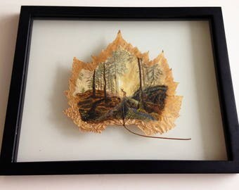 The Importance of Forests | Canadian Art | Leaf Art | Leaf Painting | Maple Leaf | Framed Painting |