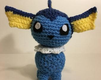 Vaporeon Crochet Amigurumi Plushie Eevolution Series