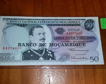 1970 Mozambique Bank Currency Uncirculated