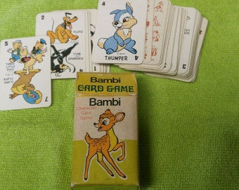 1940 Walt Disney Bambi Vintage Character Card Game 35% OFF