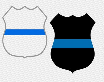 Thin blue line, police badge svg, police svg, Law enforcement, SVG Files, Cricut, Cameo, Cut file, Files, Clipart, Svg, DXF, Png, Pdf, Eps