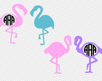 Flamingo svg, Monogram svg, Summer, Beach, Bird, Pink, Shirt, SVG Files, Cricut, Cameo, Cut file, Files, Clipart, Svg, DXF, Png, Pdf, Eps
