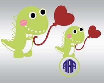 Valentine svg, Dinosaur svg, Valentines day svg, Love svg, Heart svg, SVG Files, Cricut, Cameo, Cut file, Clipart, Svg, DXF, Png, Pdf, Eps