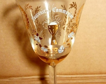 French Gold Gilded Glass Cup  For Holy Communion