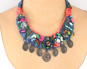 Unique Design Bohemian Boho Necklace | Easter Gift for Her - Moms, Mothers, Girlfriends, Best Friends / BH47