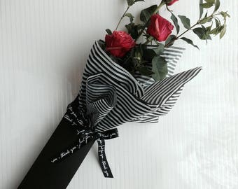 Long stem Flower box_Black (60ea/set)