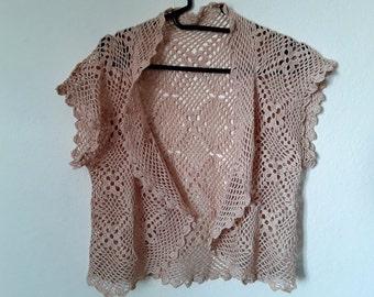Very elegant, crochet shrug!