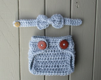 Newborn Boy Photo Outfit Newborn Crochet Outfit Baby Boy Crochet Outfit Baby Diaper Cover Bow Tie Baby Diaper Cover Newborn Boy Diaper Cover