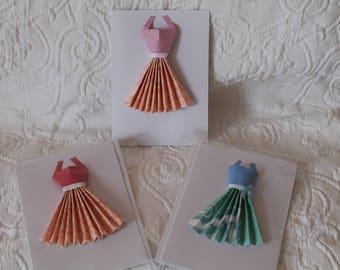 Origami Paper Dress Card