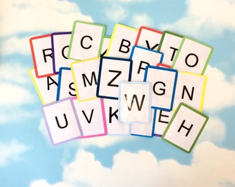 Alphabet flash cards, Uppercase letters, Alphabet learning cards, Visual learners, Teaching resource, SEN, Educational development