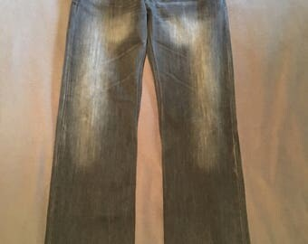 Levis gray 32x34 jeans gray faded super cool with flap rear pockets