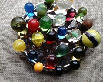 Vintage Marble Magnets- fridge magnet, kitchen decor,retro,fun, Neodymium, neodymium, unique,glass, gift, FREE SHIPPING