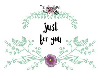 Just For You Blank Greeting Card