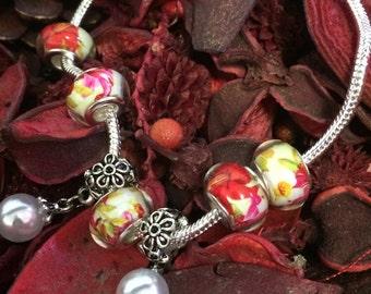Hand-made European charm bracelets