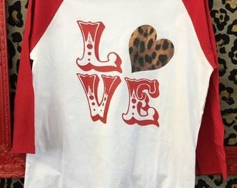 LOVE Leopard Heart Tee