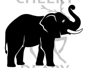 Elephant Digital File, SVG, DXF, EPS, for use with Silhouette Studio and Cricut Design Space