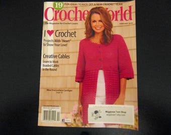 Crochet World Magazine 2016  Crochet patterns - February 2016 vol 39 No 1