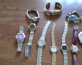 lot of 10 vintage watches