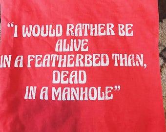 Vintage 70s red t shirt manhole M