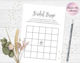 Printable bingo cards, Bridal shower gift bingo, Printable bingo game, Wedding bingo, Wedding bingo cards 5x7, Printable bridal shower bingo