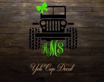 Jeep Decal For Yeti Etsy - Jeep vinyls for yeti cups