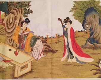 Large Handmade Chinese Embroidery: The Four Great Beauties
