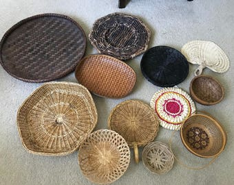 12 piece Large wall basket collection set