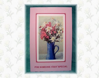 Card & Real Edelweiss - Vase