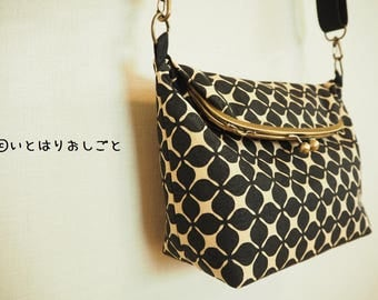 Order Production Scandinavian geometric pattern GAMAGUCHI 2way Shoulder Bag