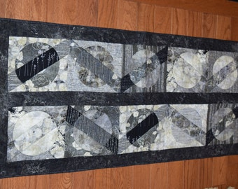 Moon Shadow Table Runner Large Black & White