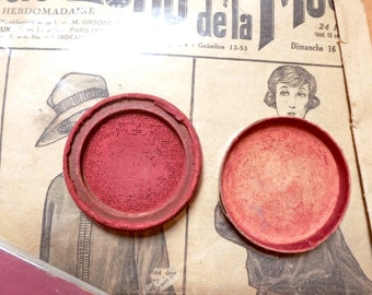 Cheek blush old Vintage blush face makeup make-up makeup box old vintage french